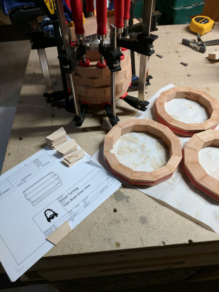 Ring Glue up