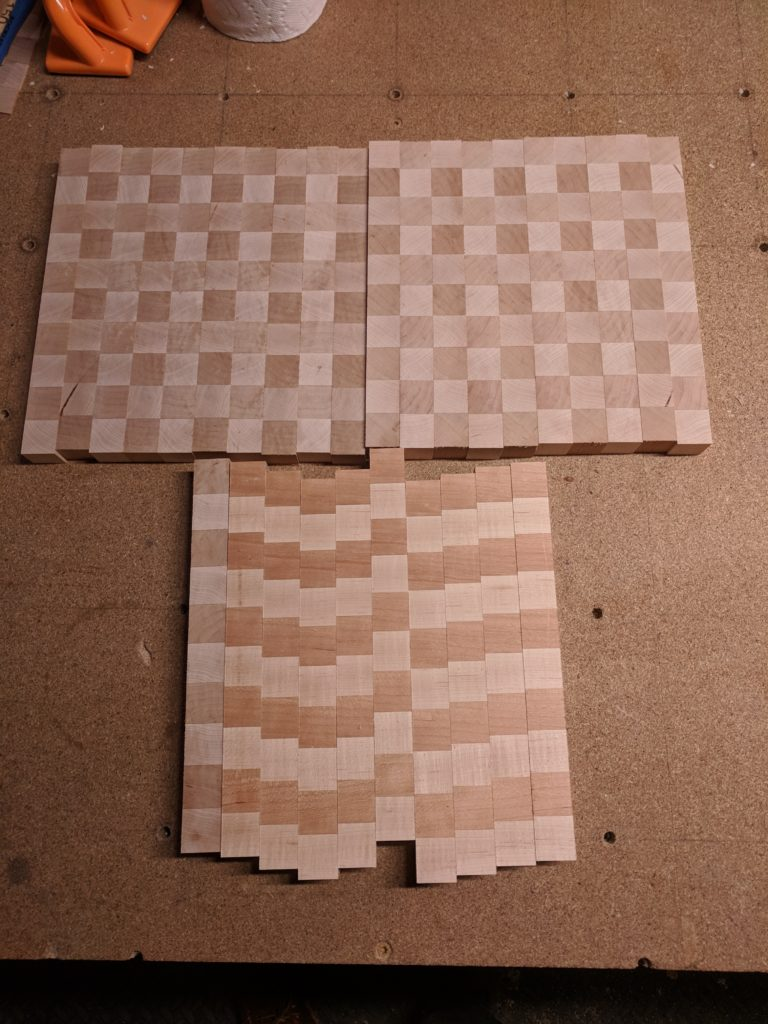 Checkering layout