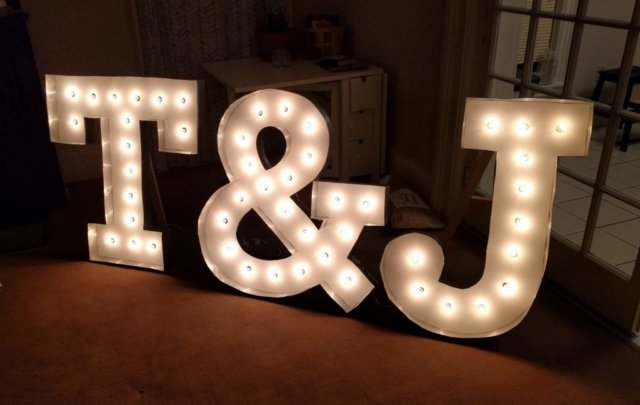 Lit marquee letters made from MDF and sheetmetal