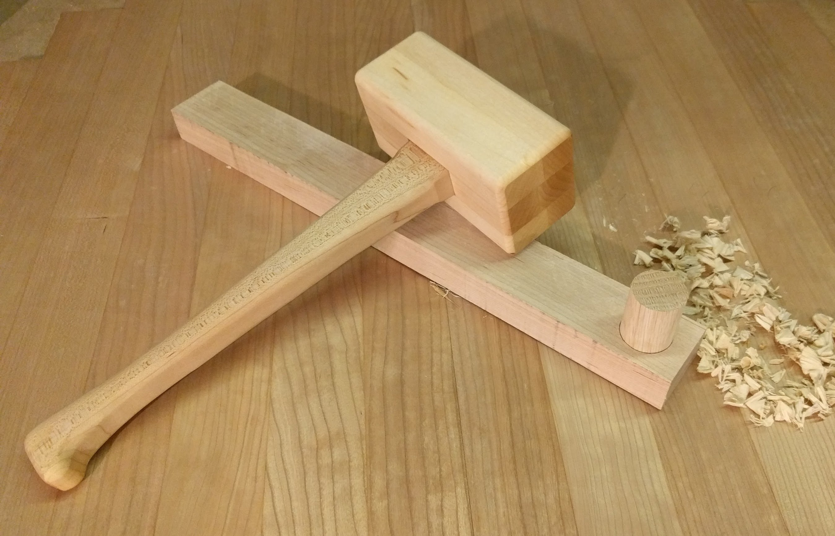 Maple hardwood mallet