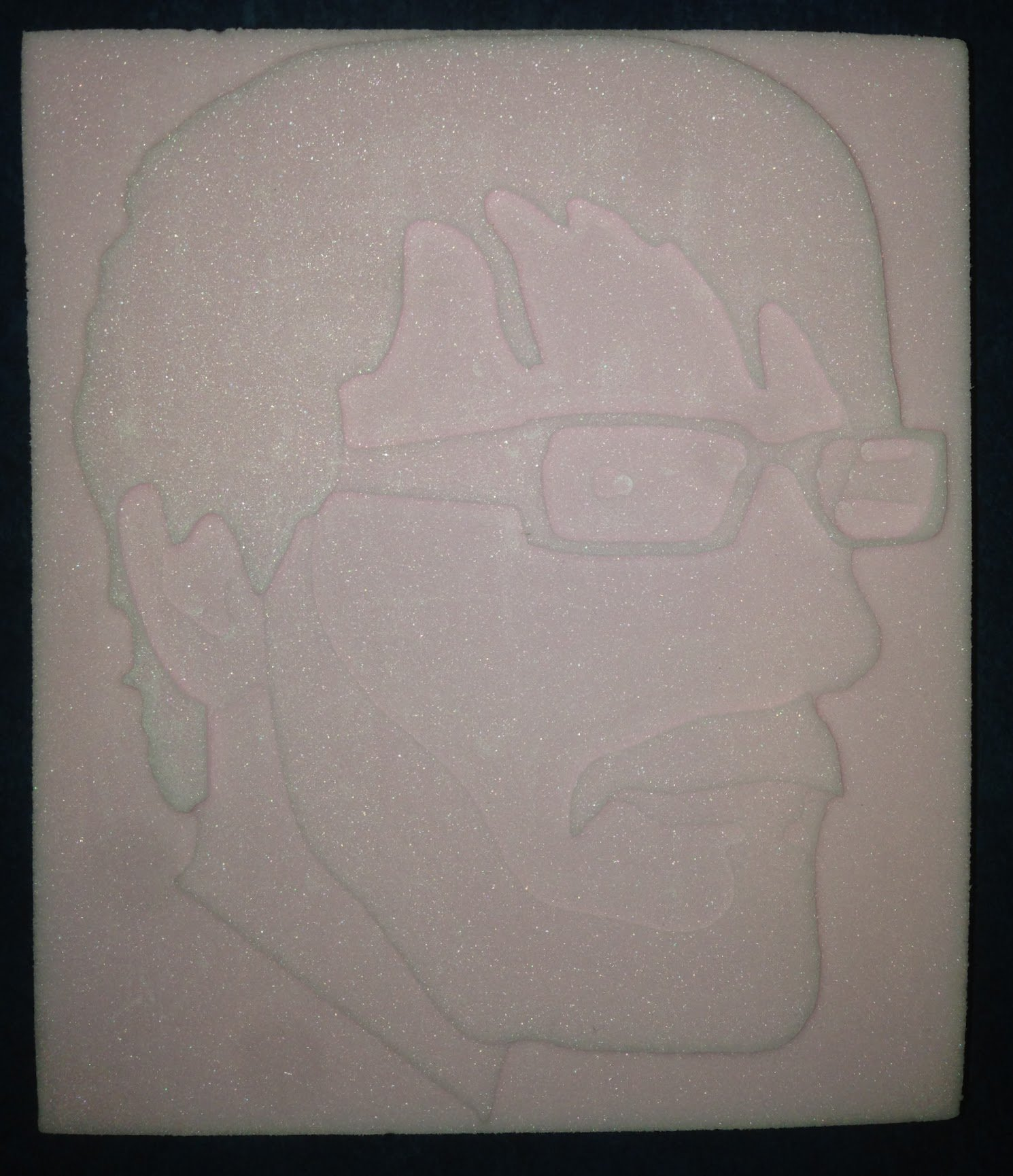 Portrait of a friend in xps foam