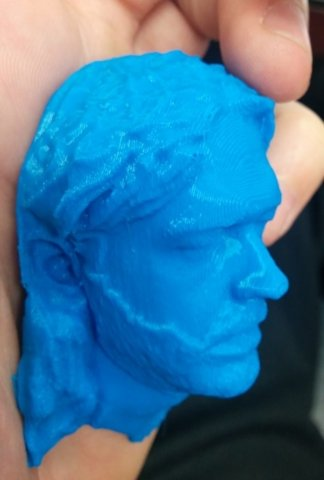 3D Printed self portrait