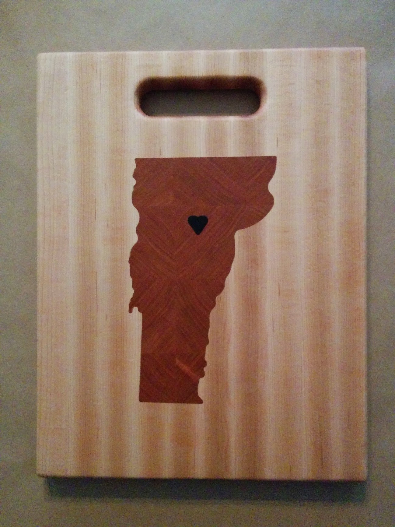 Vermont cherry inlay cutting board
